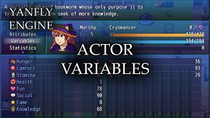 Actor Variables (YEP) - Yanfly moe Wiki
